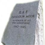 RAF Davidstow Moor Memorial Stone
